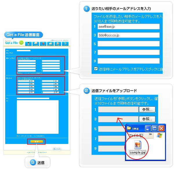 get a file ファイル転送サービス 共用レンタルサーバー レンタル